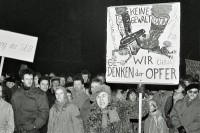 Montagsdemo in Leipzig