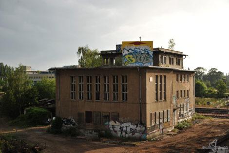 Leipzig an der Brachfläche Güterbahnhof Kleinzschocher.